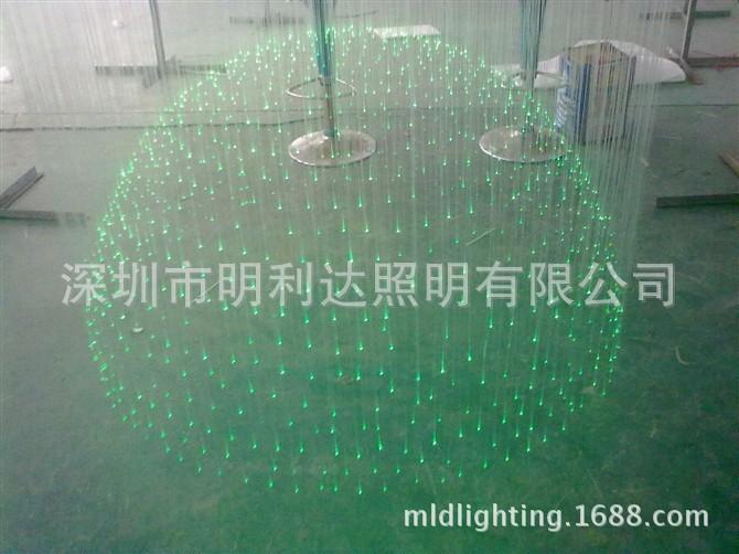 Manufacturers, wholesale crystal fiber optic lights fiber optic lights hemisphere pineapple bead 14 #(China (Mainland))