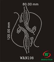 Free ship!30pc!Cat design hotfix rhinestones transfer iron on DIY motifs rhinestones WAN198