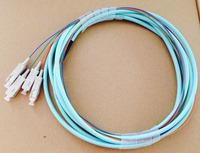 4 core SC / UPC 10 Gigabit 50/125 OM3 multimode  pigtail 1.5m 4-pin telecom grade