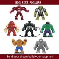 Free shipping Big size HULK BUSTER/Green Goblin/Rhino/Venom/Juggernaut Building block figures classic toy compatible with lego