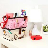 Creative 2015 Folding MakeUp Cosmetic Storage Box Container Bag Case Organizer Non-Woven Desktop Storage Organizer