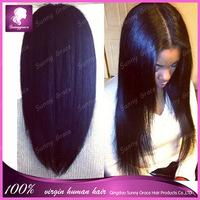 Hot selling! Glueless Brazilian virgin hair full lace human hair wigs bob for black woman short cut human hair wig in stock