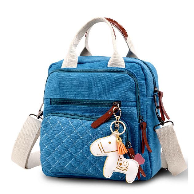 2015 Korea Women Handbag Ladies Designer Handbags High Quality Canvas Tote Shoulder Bag For Girl Bolsas Femininas Horse Clutch(China (Mainland))