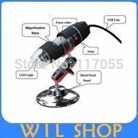 Portable USB Magnifier Digital Microscope Test Microscope 500x Endoscope Loupe Circuit Board Detection 8 LED Lamp,Free shipping