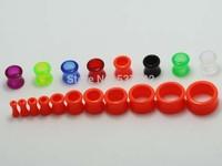 free shipping 110pcs mix size ear gauges body piercing jewelry ear plugs ear stretchers