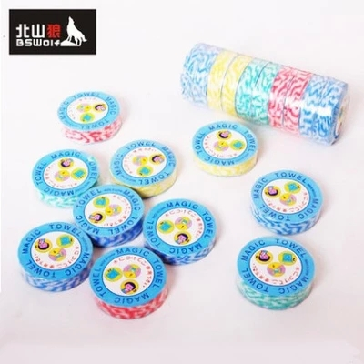 BSWolf outdoor travel essential mini towel Magic compressed towel Quick-drying towel 10 lots(China (Mainland))