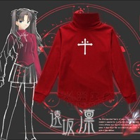 HOT NEW Fate Stay night TohsakaRin Cosplay Anime Turtleneck Sweater Sports Coat Informal Dress Polar Fleece