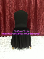 100pcs Quality Black Luxury Large Skirting Lycra Chair Cover,Banquet Lycra Chair Cover For Wedding Events &Decoration,