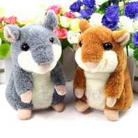 Free Shipping Lovely Plush Toys Talking Sound Record Mimicry Pet Electronic Hamster Kids Gifts