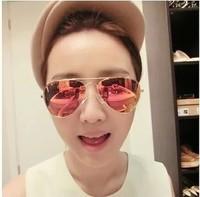 Star style reflective sunglasses male women's fashion colorful large sunglasses driving glasses vintage sunglasses