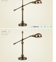 Adjust the archaize sitting room study desk lamp retro office desk lamp of bedroom the head of a bed