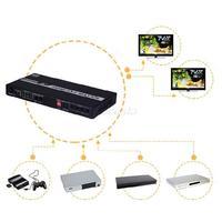 4x2 HDMI 4K Full 3D Matrix Switch Switcher Splitter Selector w/ Remote Control EDID SPDIF HIFI Audio HDTV Bluray 4IN 2OUT