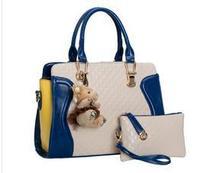 chispaulo weidipolo brand 2014 women fashion leather hit color handbag shoulder bag Messenger bag tote Free Shipping desigual