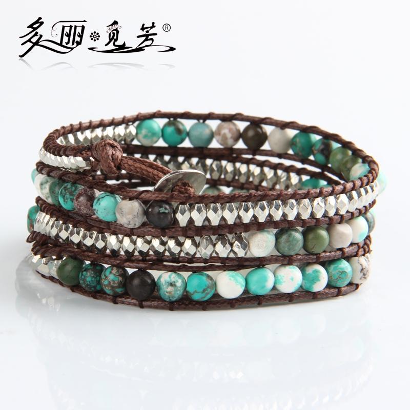 Браслет с брелоками  turquoise natural stone bead bracelet , 1 X 2 X 4 X браслет с брелоками turquoise natural stone bead bracelet 1 x 2 x 4 x