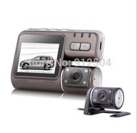 Dual Lens Camcorder i1000 Car DVR Dual Camera HD 1080P Dash Cam Black Box With Rear 2 Cam Vehicle View Dashboard Cameras