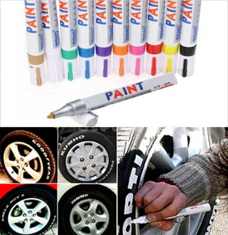 1 PC Universal Waterproof Permanent Paint Marker Pen Car Tyre Tire Rubber Metal 11 Colors(China (Mainland))