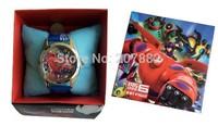Free shipping !100pcs/lot ! 2015 Hot Sale Big Hero 6 Character  Kids Watch Cartoon Quartz Watch Gift Wrist Watch A099 Wholesale