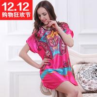 2015 Super Woman's sleepwear female faux silk Pajama cheap sales
