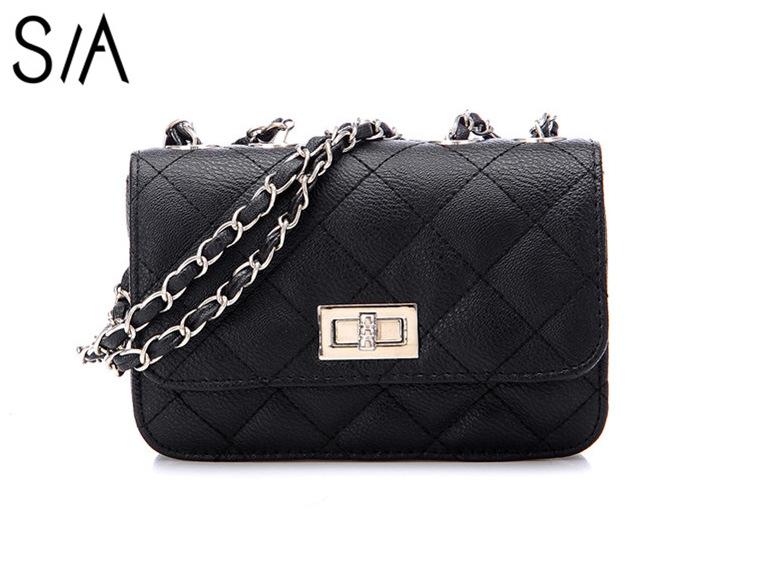 2015 Fashion Women Messenger bags Small Crossbody chain Shoulder bag High quality Woman Desigual bag Plaid Women handbag bolsas(China (Mainland))