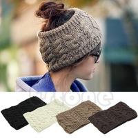 Free Shipping Chic Women Knitted Empty Skull Beanie HeadBand Warm Hat Lady Girl Winter Ski Cap