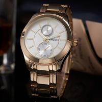 High Quality Reloj De marca 2015 Fashion Women Rhinestone Watch Angel White Round Face Gold Steel Hot Watches