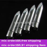 Portable Mini Silver Bullet Vibrators Long Dildo Vibrators Erotic Toys