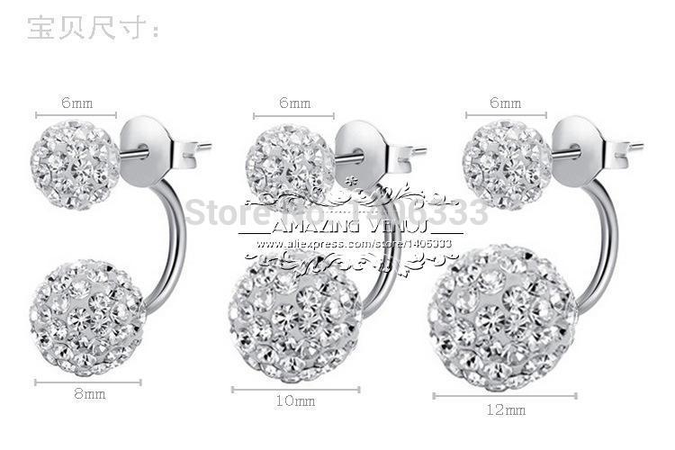 Cheap Beautiful 925 sterling silver created diamond stud earrings for women Shambhala High quality earrings ED21