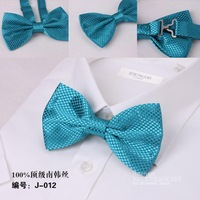 Free Shipping NEW Arrival Aqua  Mens Bow Tie,Solid color Polyester woven Tuxedo Adjustable Neck Bowtie Bow Tie