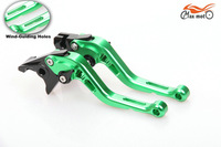 Green New Style CNC Short Brake Clutch Levers For YAMAHA FZ16 FZ-16 2012-2013
