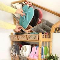 Japanese Creative Shoe Storage Box Simple Plastic 3 Layer Shoe Organizer Shoe Rack Shelves