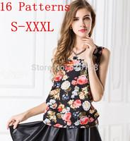 Summer 2015 Woman Brand Top Basic Female Chiffon Sleevelss Shirt Blouse Blusas FemininasTank Tops Women Casual Ropa Mujer W275