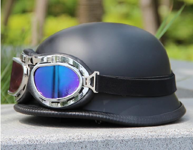 Hot sale 1 pc German helmet pull breeze fashion world war ii German helmet Half helmet with goggles(China (Mainland))