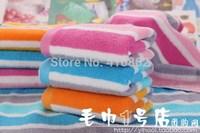 pure cotton facecloth think Promotion face towel 33*74cm 100g stripe soft Water absorption facetowel 3pcs/lot