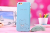 free shipping For iphone 6 Plus 5.5inch Fashion Cute Fluffy Tail Fox Case Protective PC Case Cover for iphone6 4.7inch