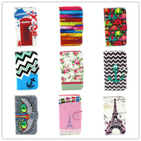 For Samsung Galaxy S5 i9600 9600 S 5 S V SV Cameras Pattern PU Leather High quality Flip wallet Cover Case Holster