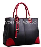 2015 New Women Handbag stitching Genuine Leather Bag Shoulder Bags Bolsas Femininas Crossbody Tote Fashion Women Messenger Bags