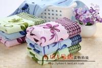 pure cotton facecloth Promotion face towel printing flower cotton towel 31*72cm 80g lovely facetowel 3pcs/lot