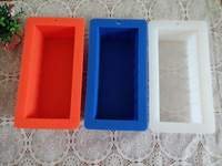 Wholesale Silicone loaf  soap mold 23.3cm(L) x12.8cm(W) x6.4cm(H) 1000g  12pcs per lot