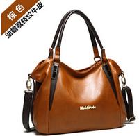 HOT! ! ! 2015 new female bags fashion wax genuine leather women's handbag messenger bag handbag