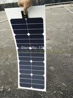 High efficiency Sunpower 33w  monocrystalline silicon transparent flexible half flexible solar panel/car 12 v car solar panels