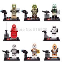 Star Wars Minifigures 8pcs/lot SY265 Emperor's Royal Guard Figures Building Blocks Sets Model Bricks Toys Lego Compatible