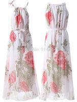 New Evening Summer Long Chiffon Maxi Dress Cocktail Party Skirt Top PLUS UK 8-20