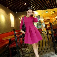 Fashion 2015 New Women Clothing bodycon Casual Dress Full Sleeve Ladies Asymmetric Patchwork Elegant Dresses