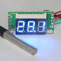 5 PCS/LOT DC12V 24V Temperature Meter -55 to 125 Celsius Degree Blue LED Thermometer for Pet House/Greenhouse/Laboratory etc