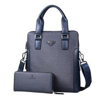 Men's Casual Solid PVC Briefcase Handbag Tote Crossbody Shoulder Bag