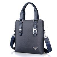Men's Casual Solid PVC Briefcase Handbag Laptop Shoulder Bag Tote