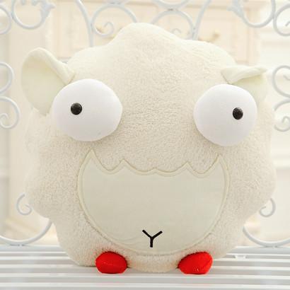 size 45 cm 1 piece Cute lamb plush toys cartoon sheep wholesale Christmas sends kids, Best gift 2015 drop shipping(China (Mainland))