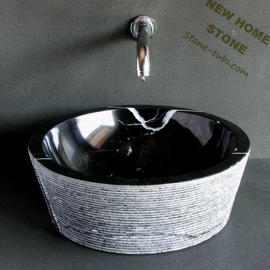 -stone-sinks-gray-rough-outside-polish-inside-black-marble-bowl-sinks ...