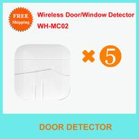 Free Shipping  5PCS Wireless Door sensor//magnatic contact/security,door contact for home alarm system