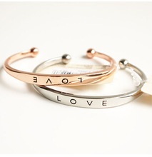 Promotion!!! Love bracelet cuff fashion cheap women bracelet gold/silver/rose gold wholesale 3pcs/lot free shipping XY-B122